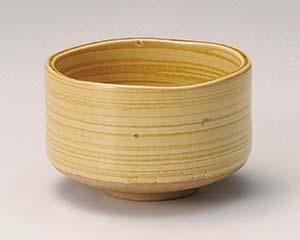 【まとめ買い10個セット品】和食器 ホ386-207 黄瀬戸抹茶碗【キャンセル/返品不可】【ECJ】