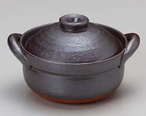 【まとめ買い10個セット品】和食器 ス405-087 鉄釉炊鍋【キャンセル/返品不可】【ECJ】