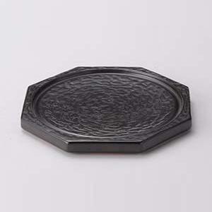 【まとめ買い10個セット品】和食器 ス406-267 黒釉溶岩風陶板6号の身のみ【キャンセル/返品不可】【ECJ】