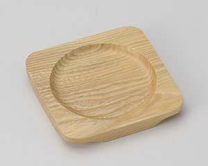 【まとめ買い10個セット品】和食器 ワ413-307 白木正角木台Aφ100【キャンセル/返品不可】【ECJ】