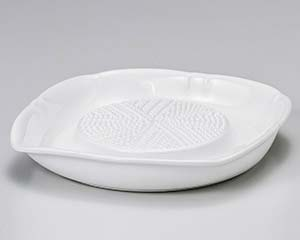 【まとめ買い10個セット品】和食器 ロ417-216 白オロシ器(大)(ノンスリップ加工) 【キャンセル/返品不可】【ECJ】