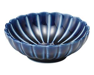 日本産 isj-441-117 和食器 イ441-117 ぎやまん 販売期間 限定のお得なタイムセール 茄子紺 BLUE ECJ 浅小鉢