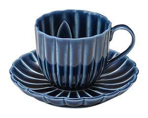 【まとめ買い10個セット品】和食器 イ422-176 茄子紺 BLUE デミタス碗皿 【キャンセル/返品不可】【ECJ】