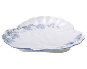 【まとめ買い10個セット品】和食器 オ476-797 清彩つた 松型和皿【キャンセル/返品不可】【ECJ】