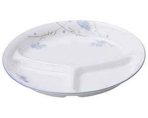【まとめ買い10個セット品】和食器 ミ479-177 スイートピー 8吋丸仕切皿【キャンセル/返品不可】【ECJ】