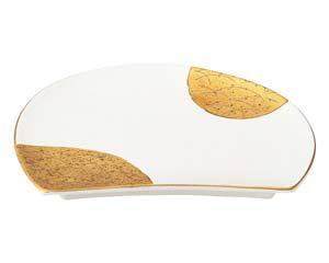 【まとめ買い10個セット品】和食器 ツ433-046 半月天皿 【キャンセル/返品不可】【ECJ】