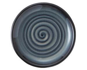 【まとめ買い10個セット品】和食器 ラ487-047 雲竜黒 七寸皿【キャンセル/返品不可】【ECJ】