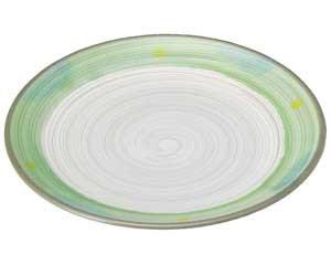 【まとめ買い10個セット品】和食器 ミ467-237 新緑 丸8.0皿【キャンセル/返品不可】【ECJ】