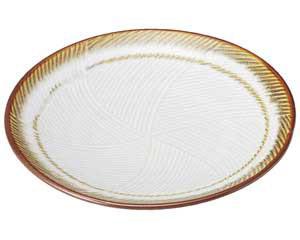 【まとめ買い10個セット品】和食器 ア485-687 乳白 丸8.0皿【キャンセル/返品不可】【ECJ】