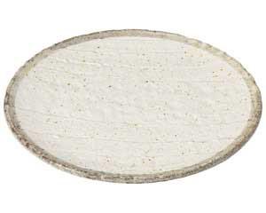【まとめ買い10個セット品】和食器 ミ469-617 志野粉引 丸天皿【キャンセル/返品不可】【ECJ】