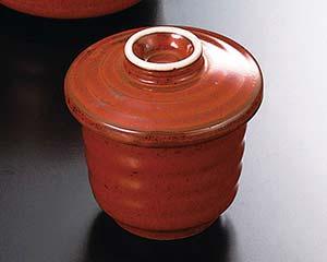 【まとめ買い10個セット品】和食器 ト108-127 赤釉むし碗【キャンセル/返品不可】【ECJ】