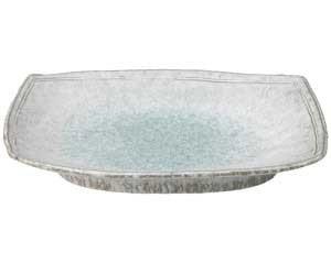 【まとめ買い10個セット品】和食器 ス472-057 青釉 11号長盛皿【キャンセル/返品不可】【ECJ】