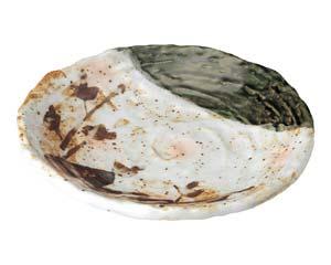 【まとめ買い10個セット品】和食器 ツ490-377 白タタキサビ木 ロクロ目天皿【キャンセル/返品不可】【ECJ】