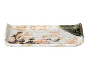 【まとめ買い10個セット品】和食器 ツ490-387 白タタキサビ木 焼物皿【キャンセル/返品不可】【ECJ】