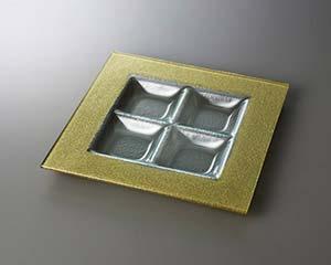 【まとめ買い10個セット品】和食器 テ535-096 ゴールドサン4P28プレート 【キャンセル/返品不可】【ECJ】