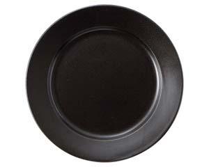 【まとめ買い10個セット品】ラ544-237 アルテ ブラック 12吋プレート【キャンセル/返品不可】【ECJ】