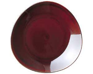 【まとめ買い10個セット品】ト589-127 トライアングル アメ8吋皿【キャンセル/返品不可】【ECJ】