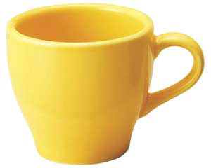 和食器 ト580-656 イエローコーヒー碗