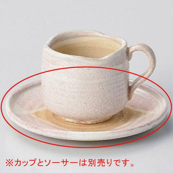 【まとめ買い10個セット品】和食器 ロ607-176 桜志野コーヒー碗と受皿 【キャンセル/返品不可】【ECJ】