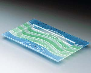 【まとめ買い10個セット品】和食器 ワC633-056 ガラス 清流長角皿 【キャンセル/返品不可】【ECJ】