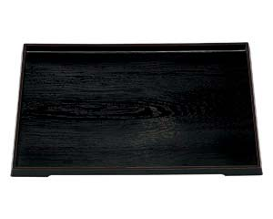【まとめ買い10個セット品】エ709-397 [A]ダイヤ木目盆 黒 尺6寸【キャンセル/返品不可】【ECJ】