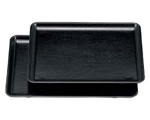 【まとめ買い10個セット品】エ710-117 [A]長手布目盆 黒NS尺0寸[ノンスリップ加工]【キャンセル/返品不可】【ECJ】