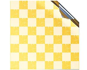和食器 オ737-776 金銀敷紙GS-C01 市松 90mm角