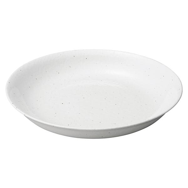 和食器 ミ431-217 粉引石目 新型尺二皿 【ECJ】
