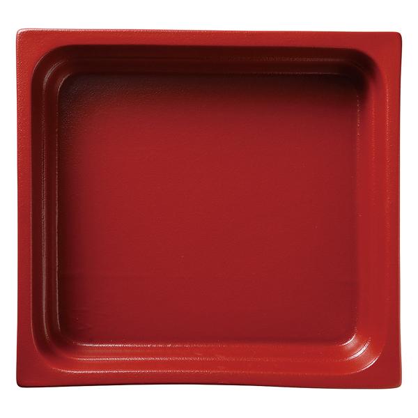 和食器 イ593-087 ガストロノームパン(UAE) 角型深2/3赤 【ECJ】