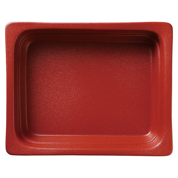 和食器 イ593-097 ガストロノームパン(UAE) 角型深1/2赤 【ECJ】