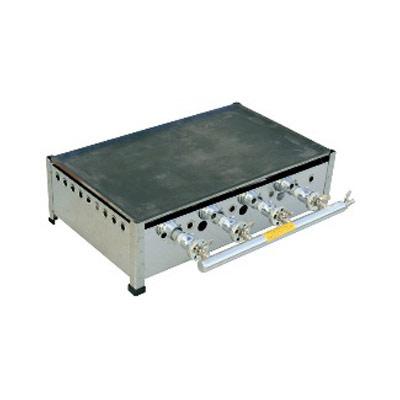 【業務用】TS-60 プレス鉄板焼 ガスグリドル セット 13Aガス 600×360×200【 メーカー直送/後払い決済不可 】