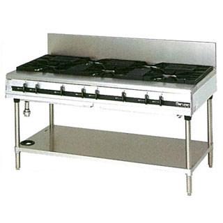 【業務用】マルゼン パワークックガステーブル MGTX-157E 1500×750×800【 メーカー直送/後払い決済不可 】