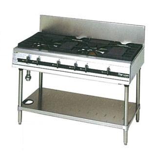 【業務用】マルゼン パワークックガステーブル MGTXU-126E 1200×600×800【 メーカー直送/後払い決済不可 】