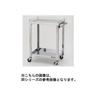 【業務用】東製作所 ステンレス製ワゴン 750×450×800 2段(中棚無)【 メーカー直送/後払い決済不可 】