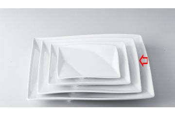 【まとめ買い10個セット品】和食器 折紙 10吋角皿 36A398-10 まごころ第36集 【キャンセル/返品不可】【ECJ】