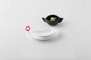 【まとめ買い10個セット品】和食器 白磁ペーズリー 8吋皿 36A402-14 まごころ第36集 【キャンセル/返品不可】【ECJ】