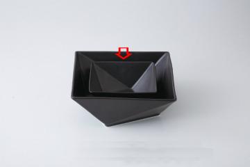 【まとめ買い10個セット品】和食器 折紙(黒) 15cm角鉢 36A398-04 まごころ第36集 【キャンセル/返品不可】【ECJ】