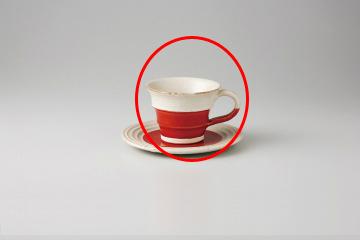 【まとめ買い10個セット品】和食器 赤釉手彫ライン コーヒーカップ 35M481-08 まごころ第35集 【キャンセル/返品不可】【ECJ】