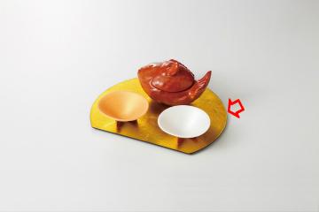 【まとめ買い10個セット品】和食器 金半月盆 36S096-09 まごころ第36集 【キャンセル/返品不可】【ECJ】