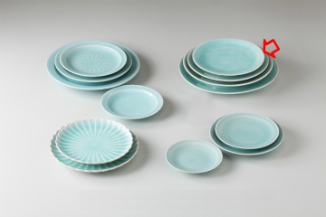 【まとめ買い10個セット品】和食器 手彫青白瓷 丸7.0皿 36K205-13 まごころ第36集 【キャンセル/返品不可】【ECJ】