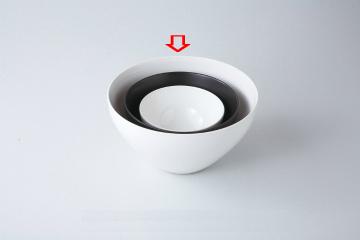 【まとめ買い10個セット品】和食器 ホワイト 深ボール(大) 36K399-17 まごころ第36集 【キャンセル/返品不可】【ECJ】