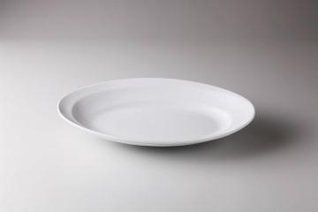 【まとめ買い10個セット品】和食器 シャインホワイト 惰円深皿(小) 36K416-01 まごころ第36集 【キャンセル/返品不可】【ECJ】