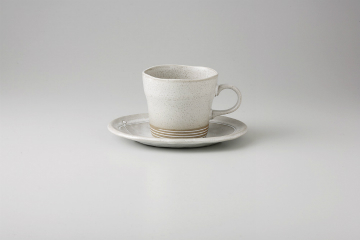 【まとめ買い10個セット品】和食器 白釉一珍 コーヒーC/S 36Q464-05 まごころ第36集 【キャンセル/返品不可】【ECJ】