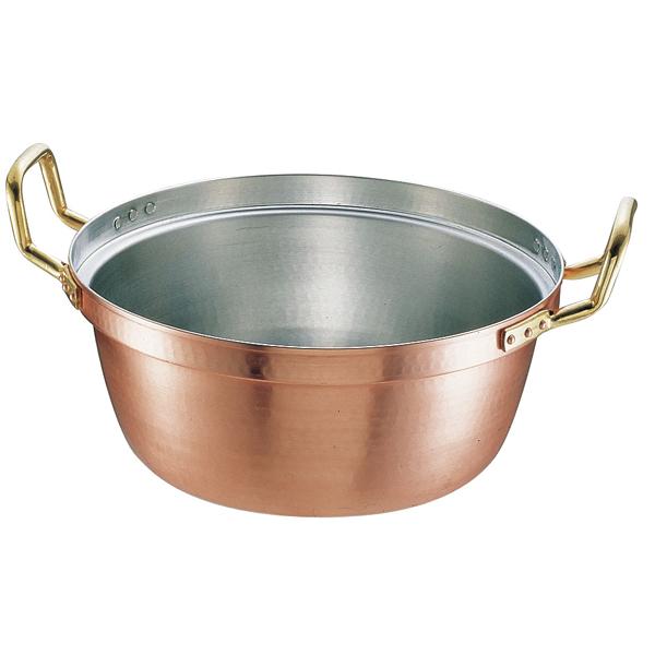 円付鍋 銅 円付鍋 両手[錫引きあり] 39cm