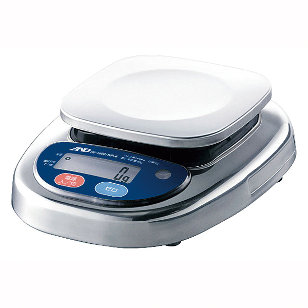 『 業務用秤 キッチンスケール 』A&D 防水・防塵デジタルスケール HL-1000iWP-K