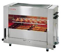 『 焼き物器 グリラー 』アサヒサンレッド ガス赤外線グリラー同時両面焼 「武蔵」 [大型]SGR-90 13A【 メーカー直送/代金引換決済不可 】