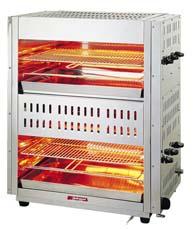 『 焼き物器 グリラー 』アサヒサンレッド ガス赤外線グリラー 上火式ダブルタイプ AS-1062 13A【 メーカー直送/代金引換決済不可 】