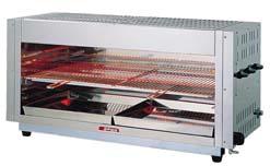 『 焼き物器 グリラー 』アサヒサンレッド ガス赤外線グリラー 上火式ワイドタイプ AS-6360 13A【 メーカー直送/代金引換決済不可 】