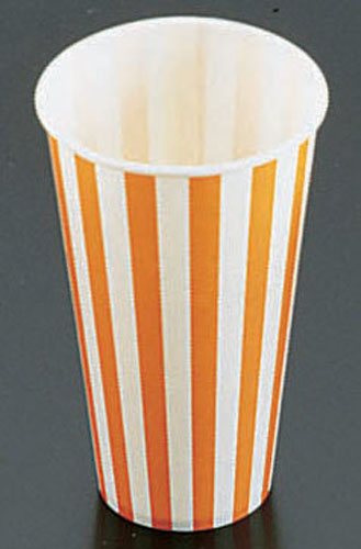 紙コップ[コールド用]SCM-400 ストライプ [1400入] 【 業務用 【 ストロー カップ 紙コップ関連品 】