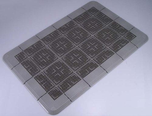 クロスハードマット 900×1800mm グレー 【 業務用 【 玄関入口用マット 】